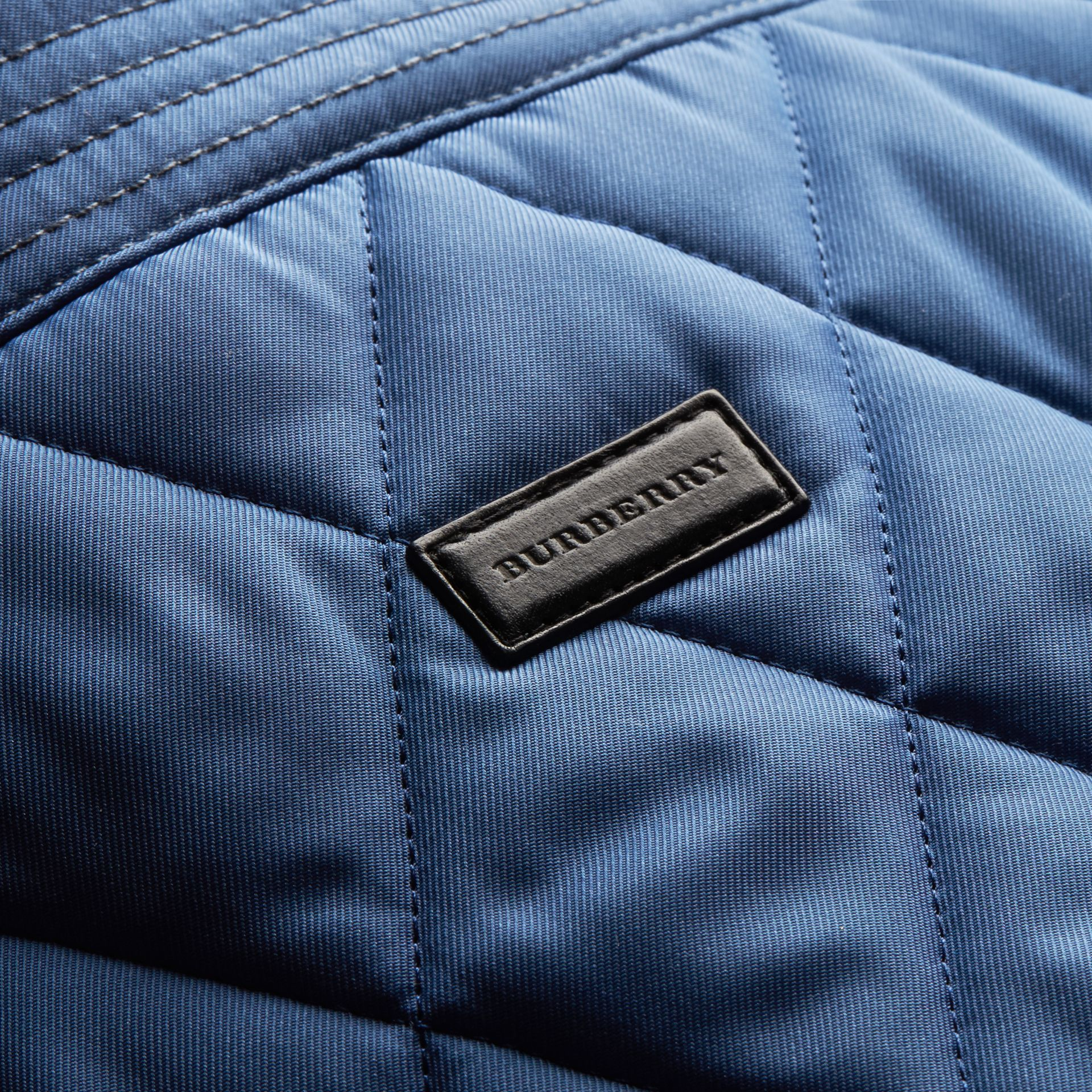 Diamond Quilted Jacket with Leather Trim - gallery image 2
