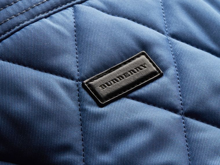 Diamond Quilted Jacket with Leather Trim - cell image 1