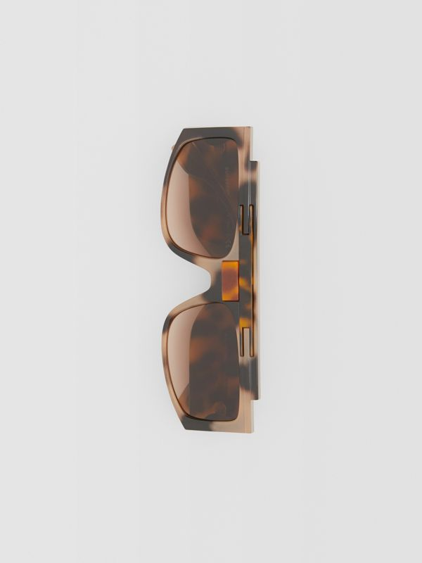 Rectangular Frame Sunglasses in Tortoiseshell - Women | Burberry - cell image 2