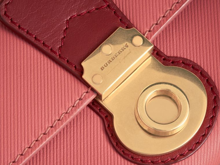 Two-tone Trench Leather Continental Wallet in Blossom Pink/antique Red - Women | Burberry - cell image 1