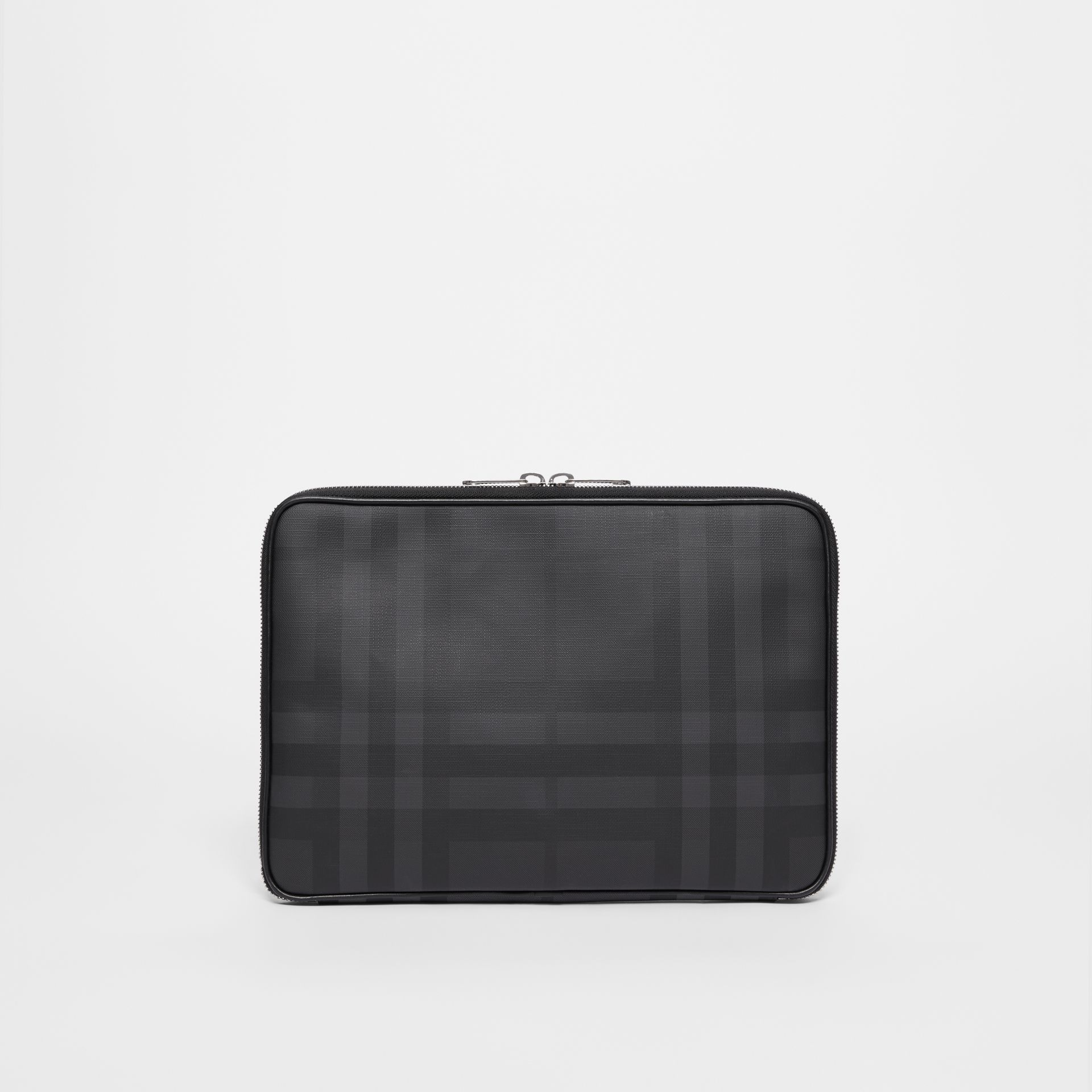 London Check Digital Case in Dark Charcoal - Men | Burberry - gallery image 0