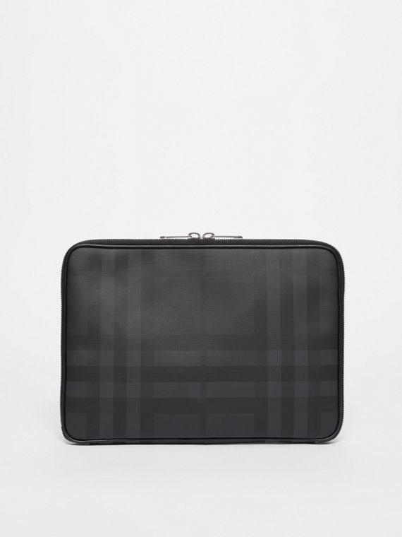 London Check Digital Case in Dark Charcoal