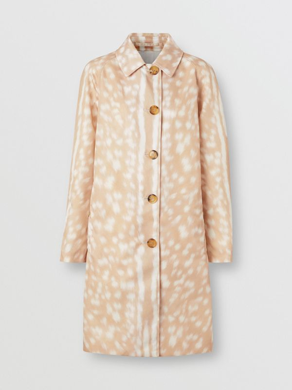 Deer Print Nylon Car Coat in Soft Fawn - Women | Burberry - cell image 3