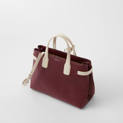 Burberry - Sac The Banner moyen en cuir bicolore - 5