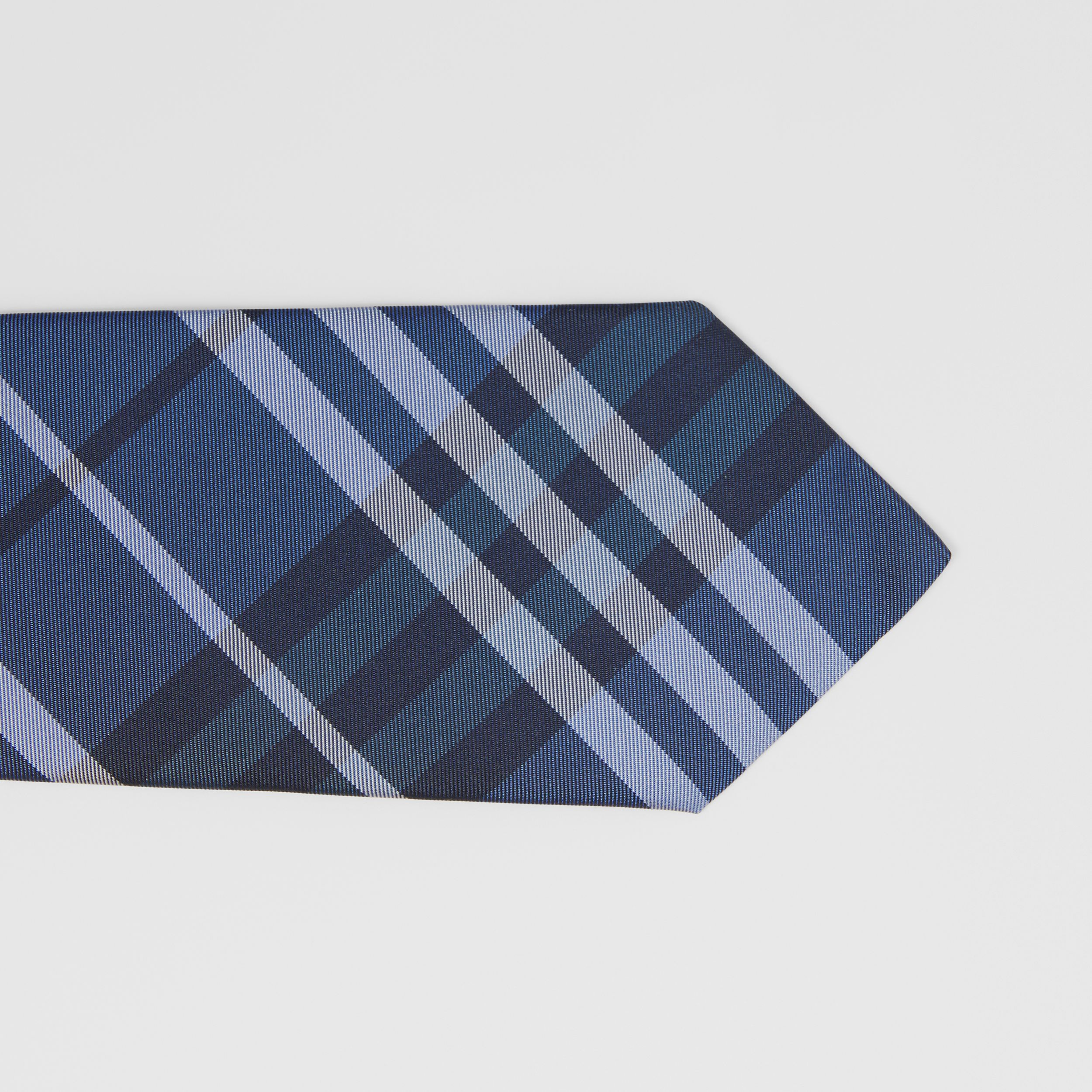 Classic Cut Vintage Check Silk Tie in Bright Navy - Men | Burberry - 2