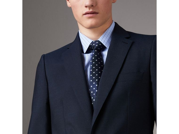 Modern Cut Polka-dot Silk Tie in Bright Navy - Men | Burberry Canada - cell image 2