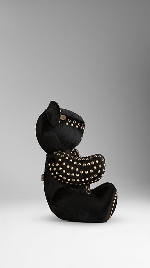 Black Thomas Bear in Studded Calfskin - Image 2