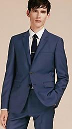 Slim Fit Wool Mohair Part-canvas Jacket