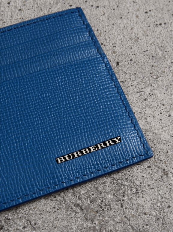 London Leather Card Case in Deep Blue | Burberry Singapore - cell image 1