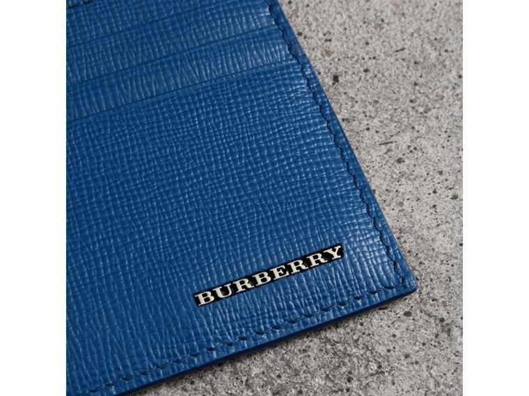 London Leather Card Case in Deep Blue - Men | Burberry - cell image 1