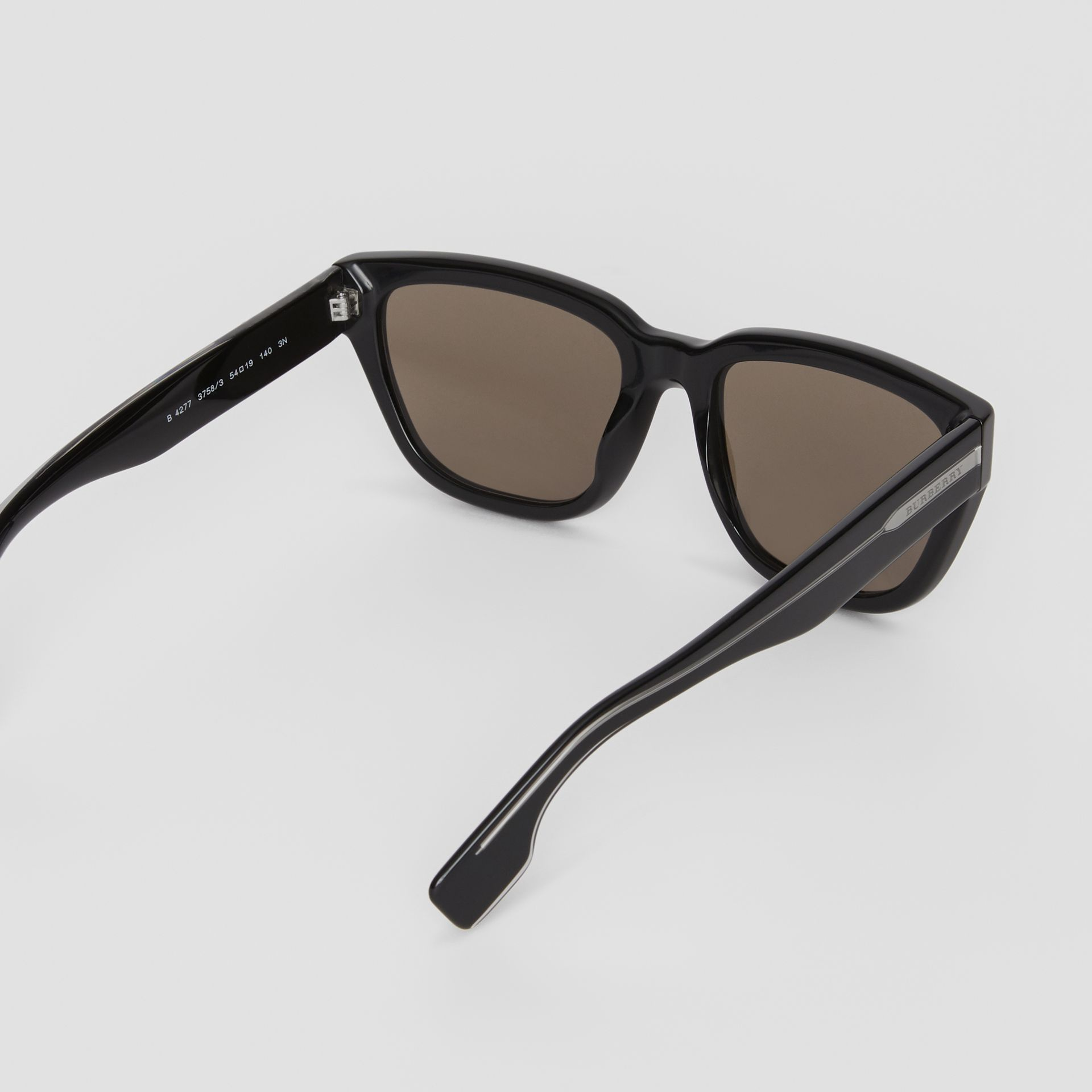 Square Frame Sunglasses in Black - Women | Burberry United States - gallery image 4