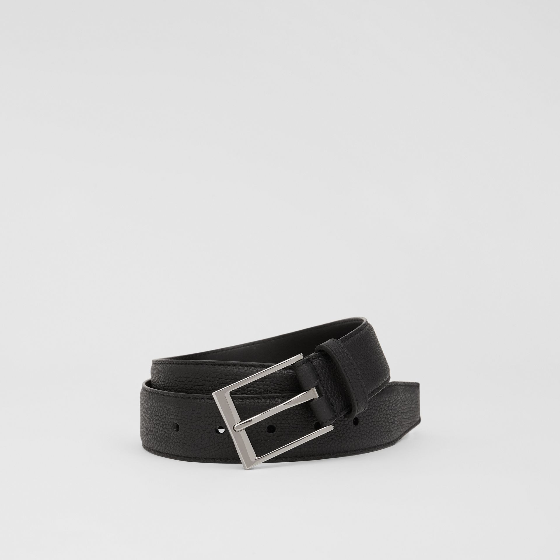 Ceinture en cuir grainé (Noir) | Burberry - photo de la galerie 0