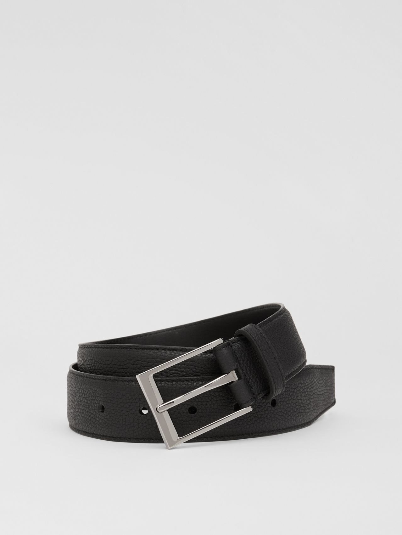 Grainy Leather Belt (Black)