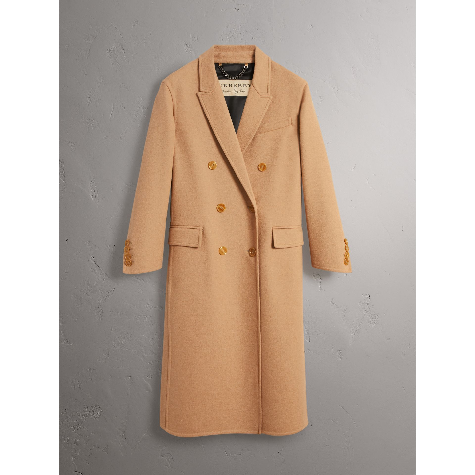 Double Camel Hair Tailored Coat - Women | Burberry Singapore - gallery image 3