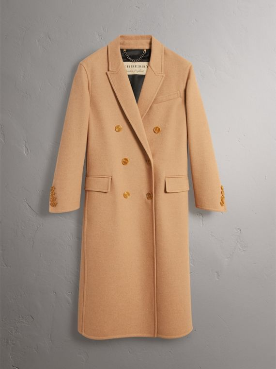 Double Camel Hair Tailored Coat - Women | Burberry Singapore - cell image 3