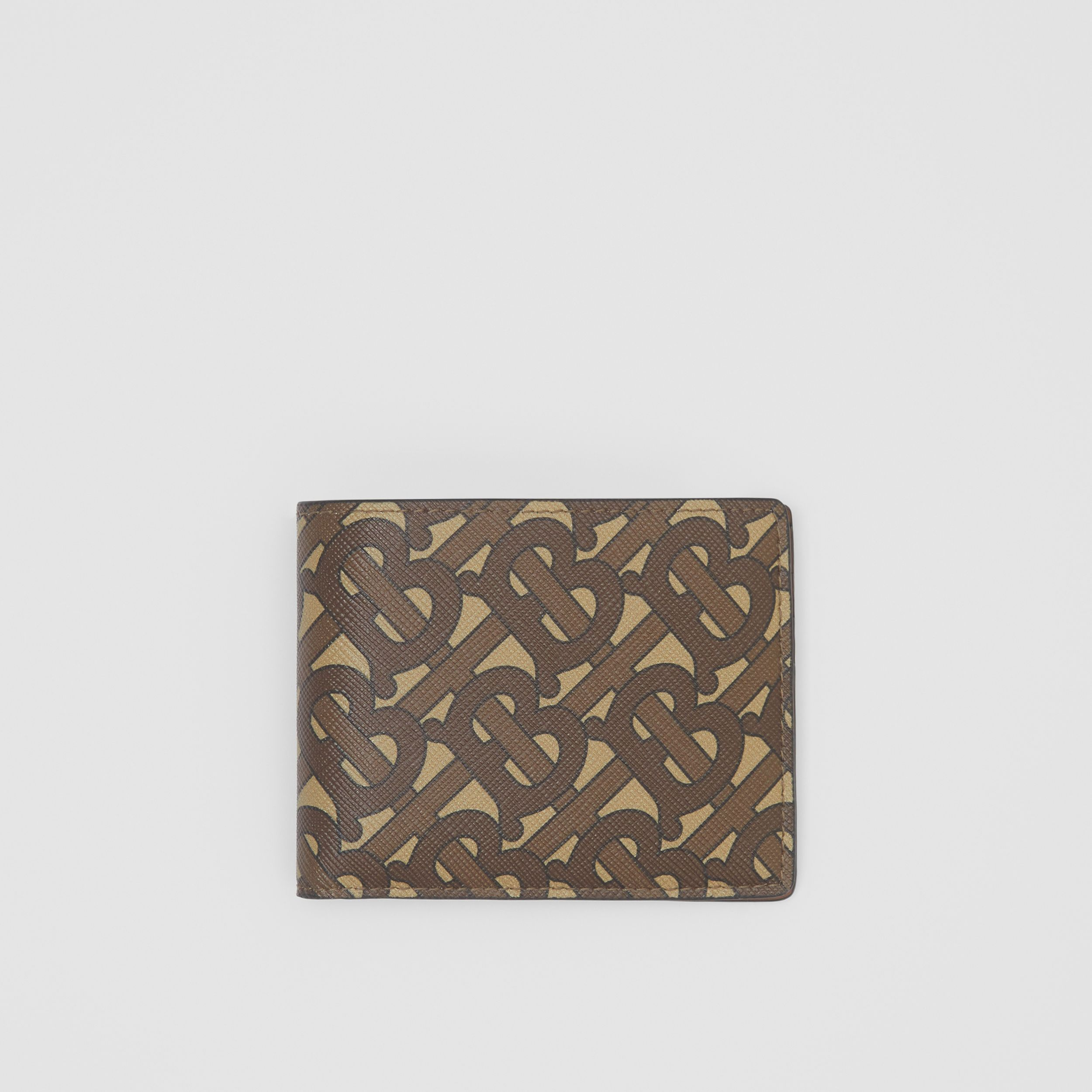 Monogram Print E-canvas Bifold Wallet in Bridle Brown - Men | Burberry - 1