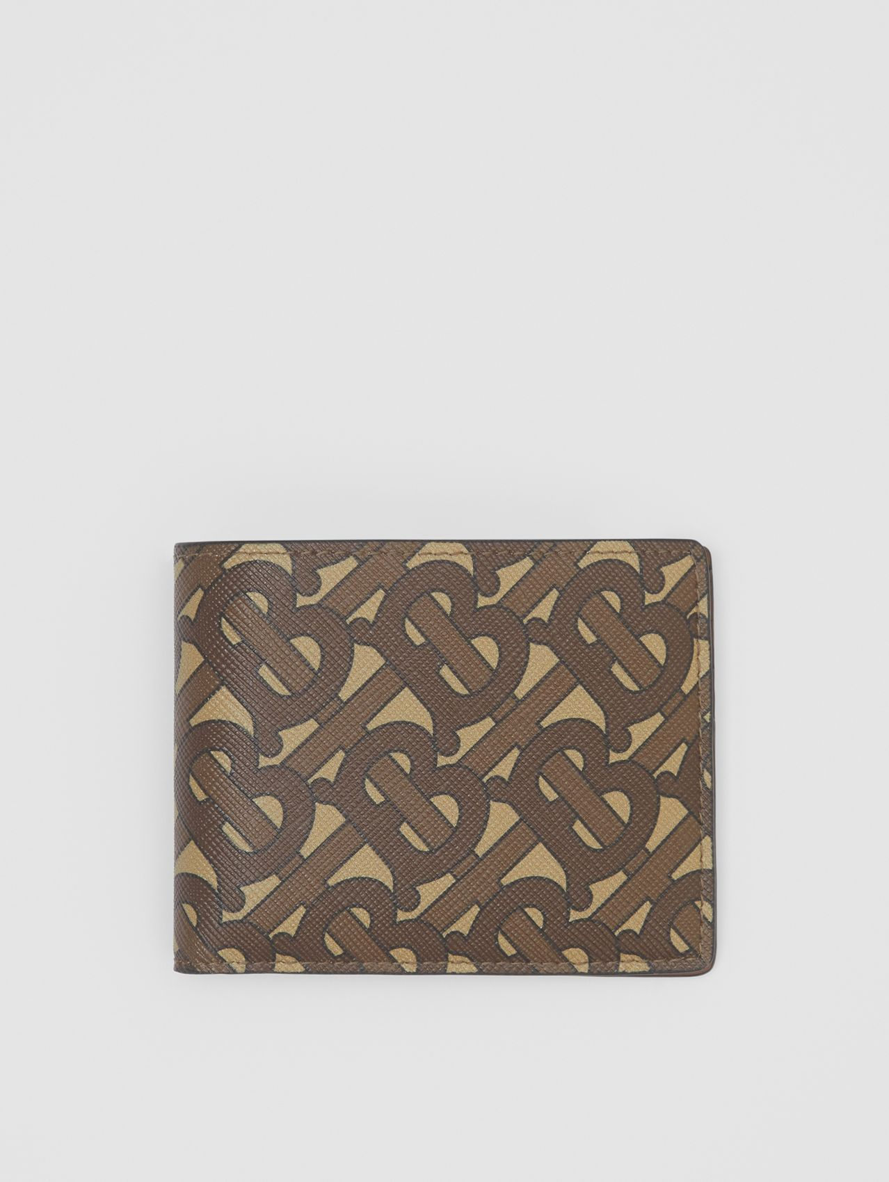Monogram Print E-canvas Bifold Wallet in Bridle Brown