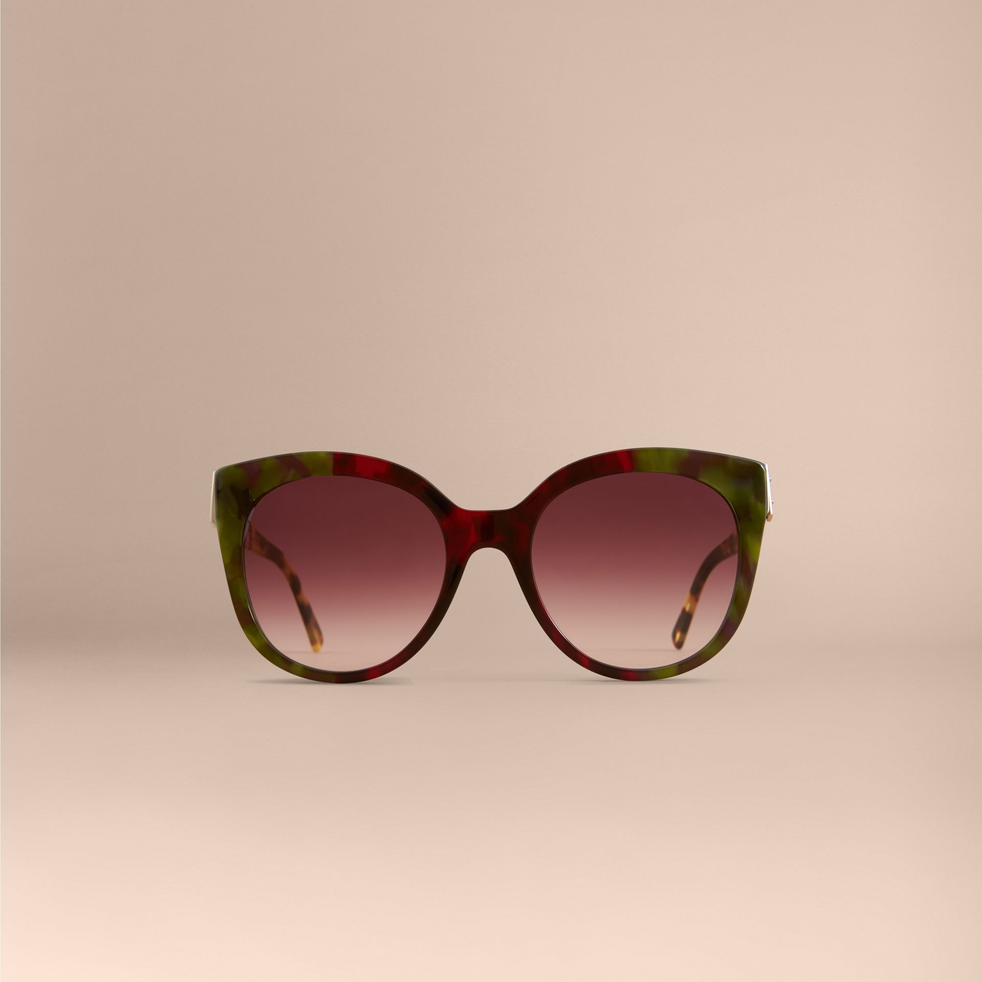 Buckle Detail Cat-eye Frame Sunglasses in Cardinal Red - Women | Burberry - gallery image 2