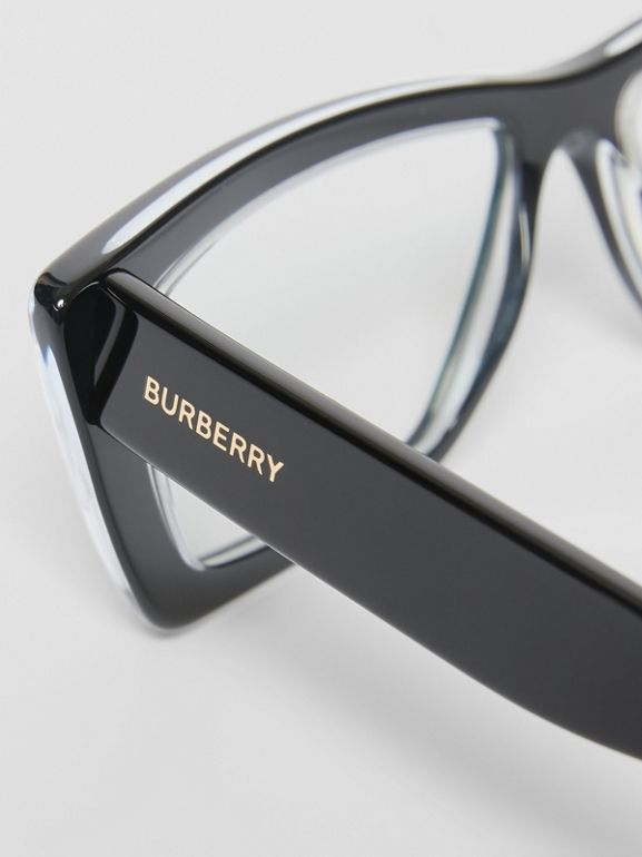 Rectangular Optical Frames in Black - Women | Burberry United Kingdom - cell image 1