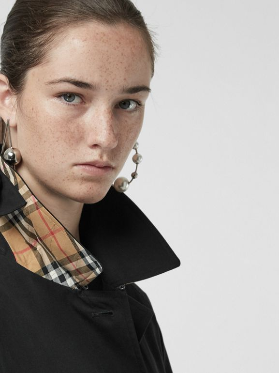 The Brighton Car Coat in Black - Women | Burberry - cell image 1