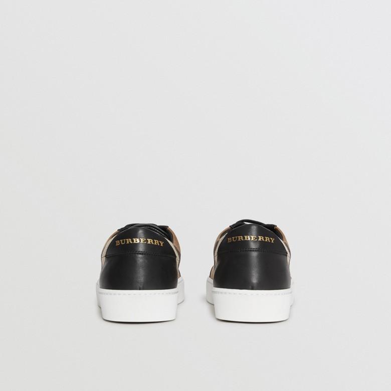 Burberry - Sneakers en cuir avec détails check - 5
