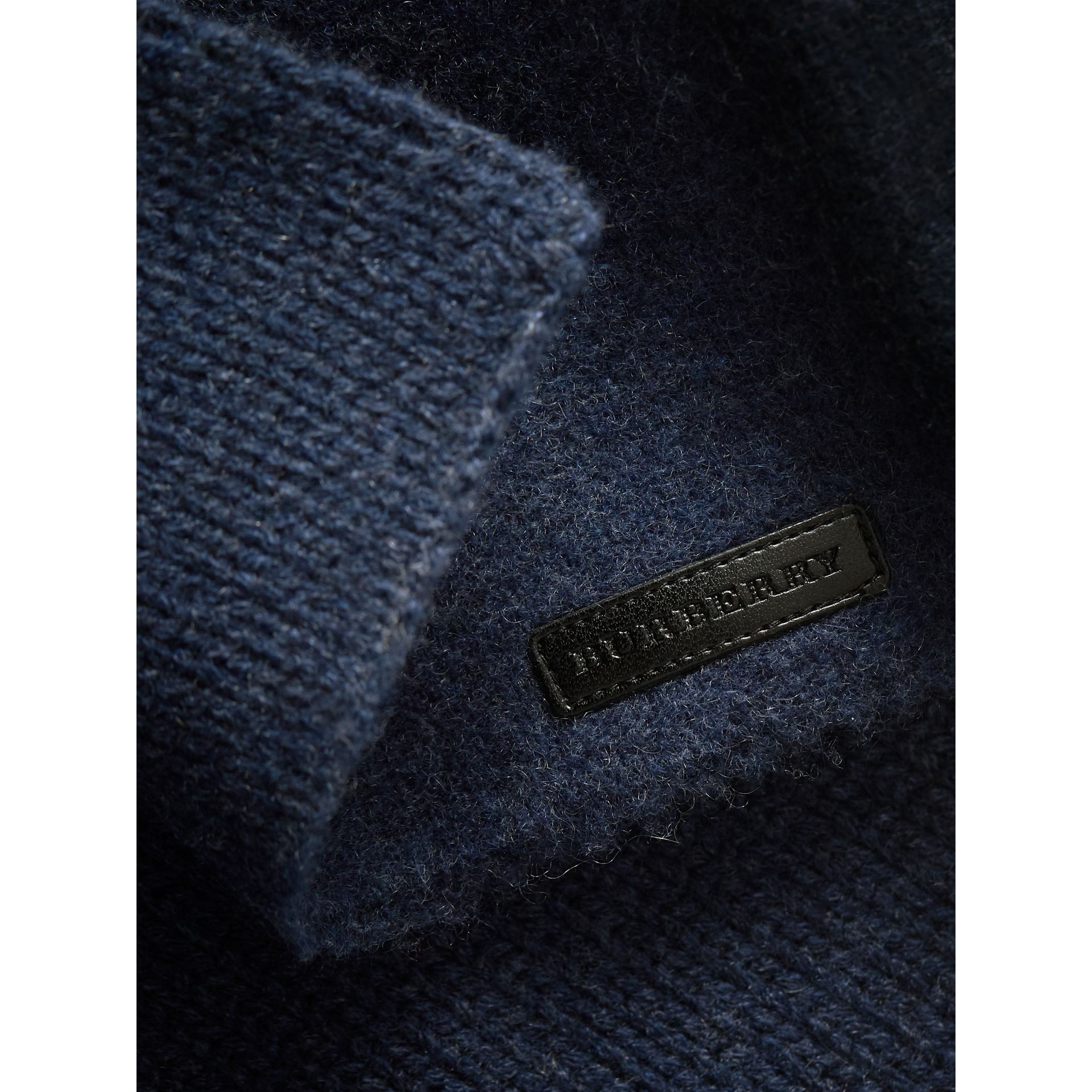 Cashmere Knitted Coat in Mineral Blue | Burberry - gallery image 1