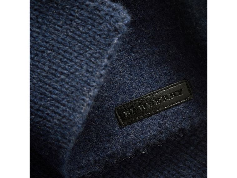 Cashmere Knitted Coat in Mineral Blue | Burberry United States - cell image 1