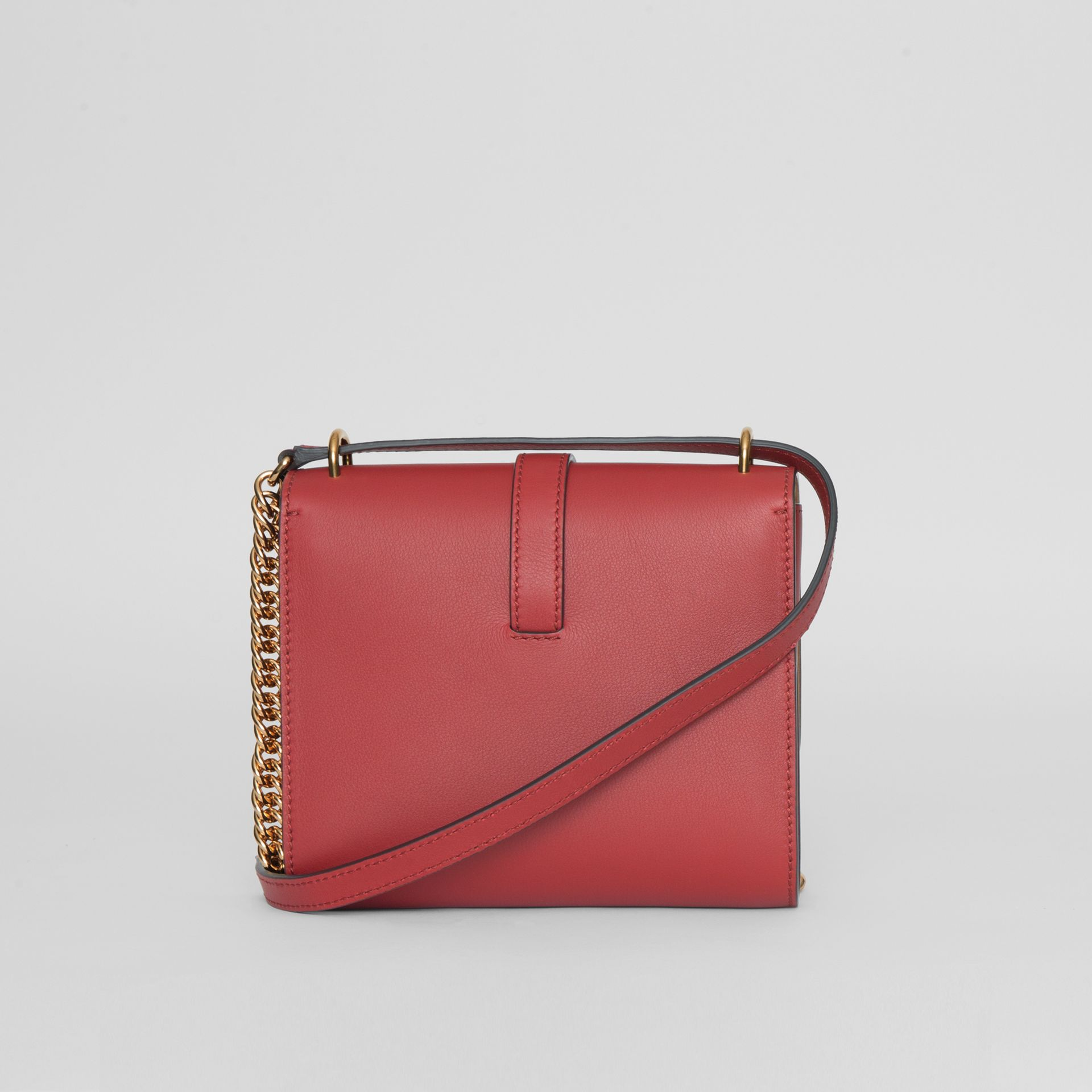 The Leather Grommet Detail Crossbody Bag in Crimson - Women | Burberry United Kingdom - gallery image 5