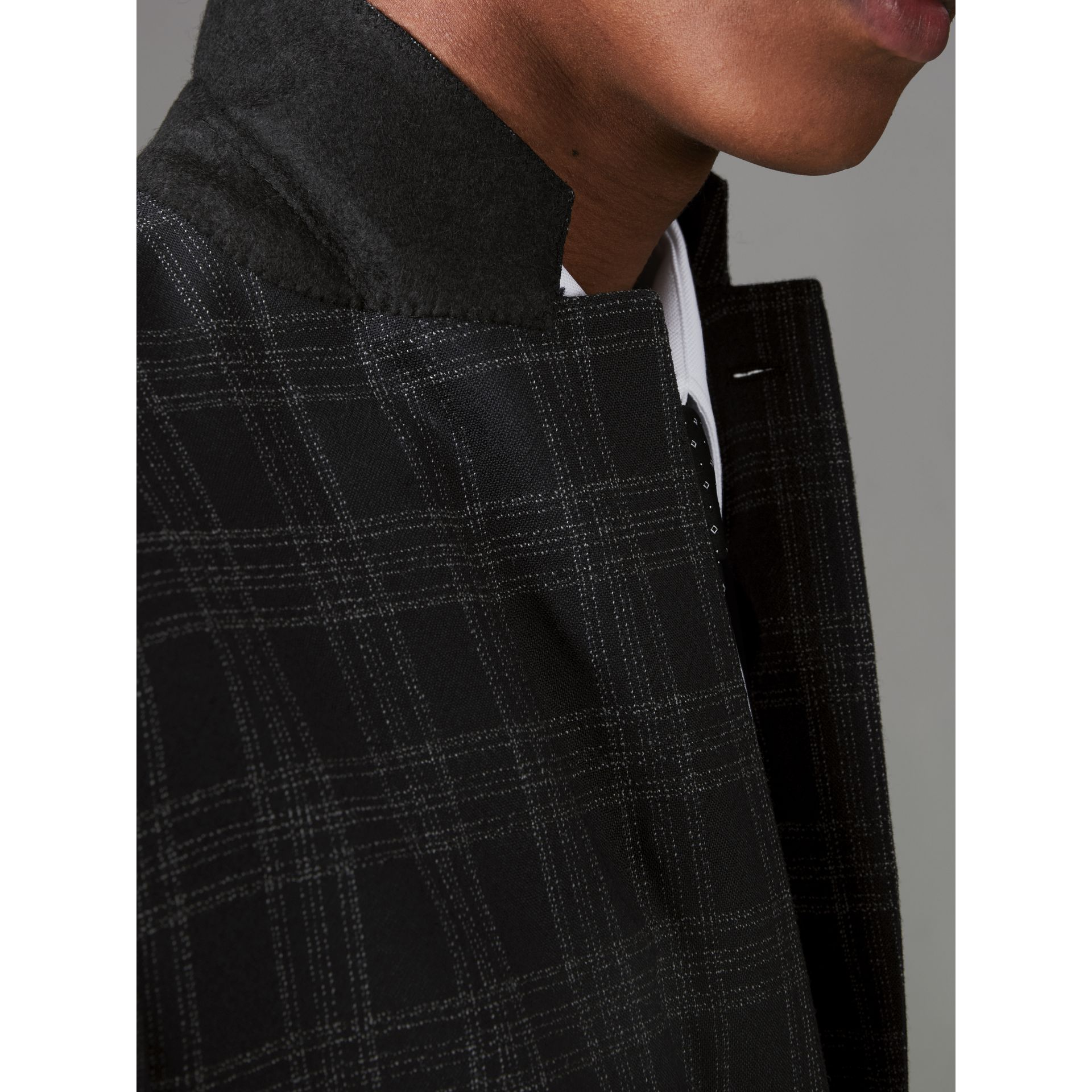 Costume de coupe Soho en laine à motif check (Noir) - Homme | Burberry - photo de la galerie 4