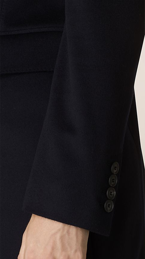 Navy Wool Cashmere Topcoat Navy - Image 4