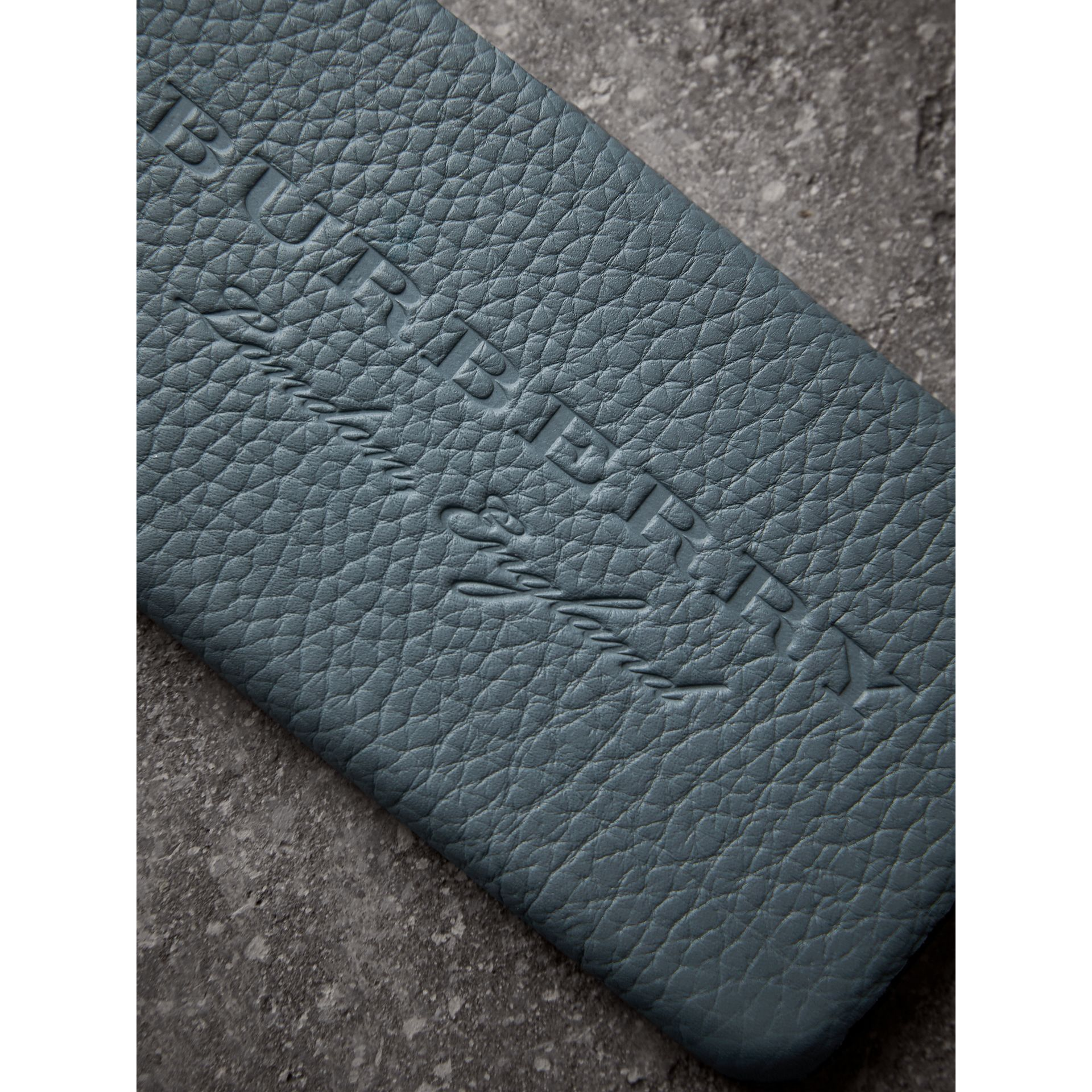 London Leather iPhone 7 Case in Dusty Teal Blue | Burberry - gallery image 1