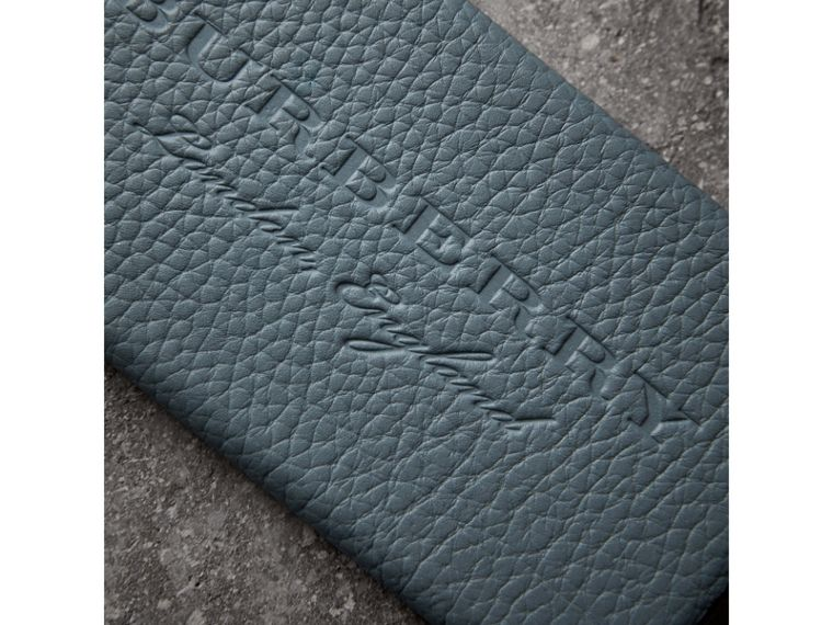 London Leather iPhone 7 Case in Dusty Teal Blue - Women | Burberry Singapore - cell image 1