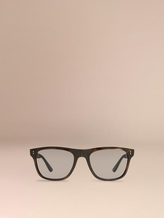 Grey Folding Rectangular Frame Polarised Sunglasses Grey - cell image 2