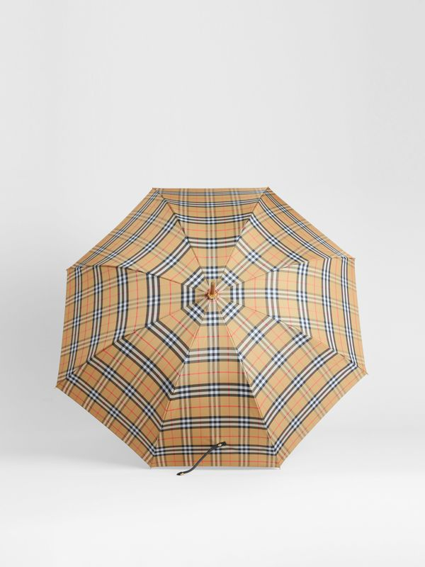 Vintage Check Walking Umbrella in Antique Yellow/black | Burberry Canada - cell image 2