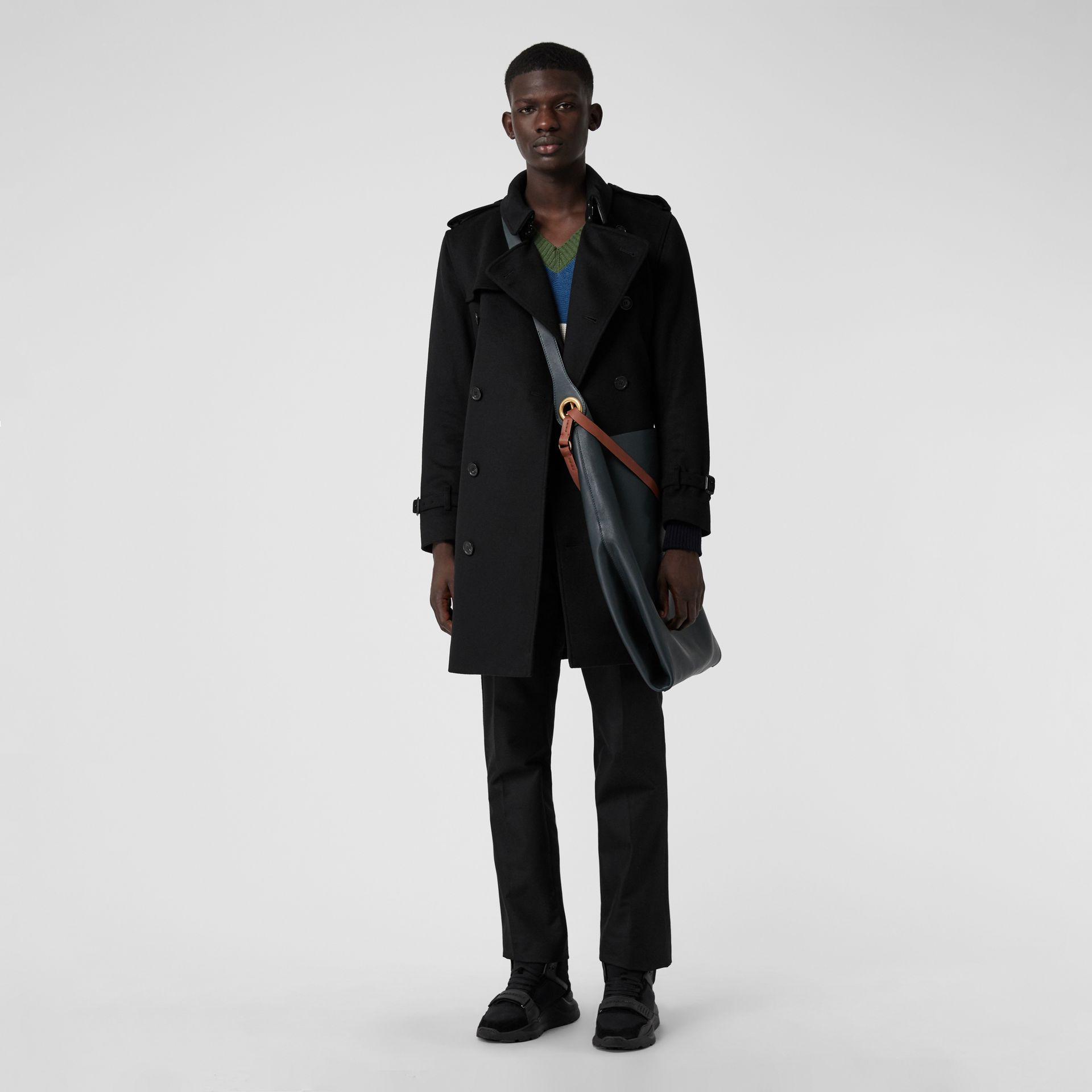 Wool Cashmere Trench Coat in Black - Men | Burberry United Kingdom - gallery image 0