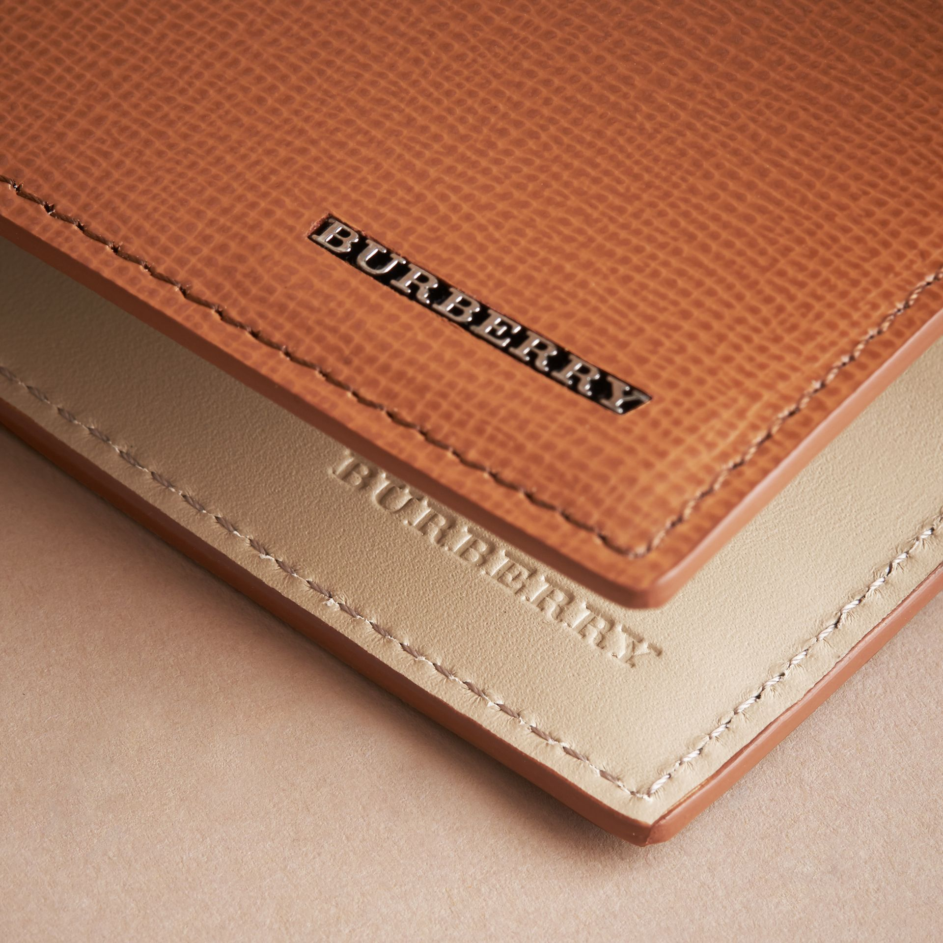 London Leather Bifold Wallet in Tan | Burberry United Kingdom - gallery image 2