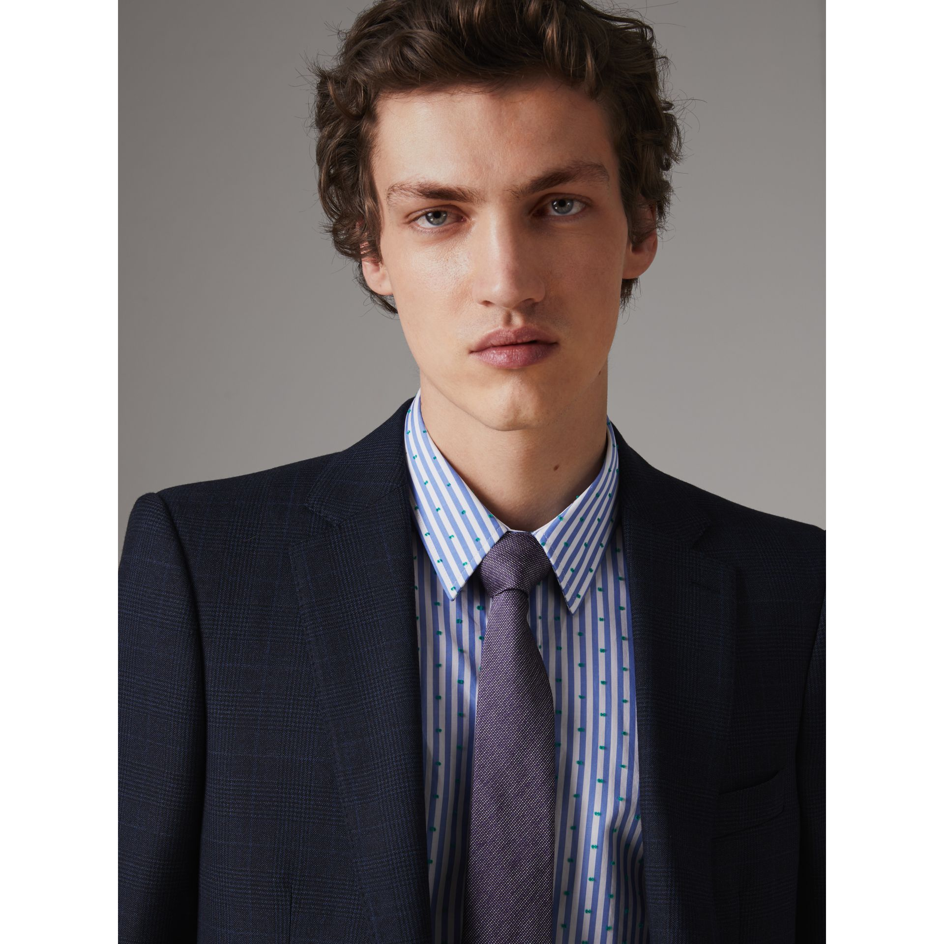 Modern Cut Silk Tie in Lilac - Men | Burberry United States - gallery image 2