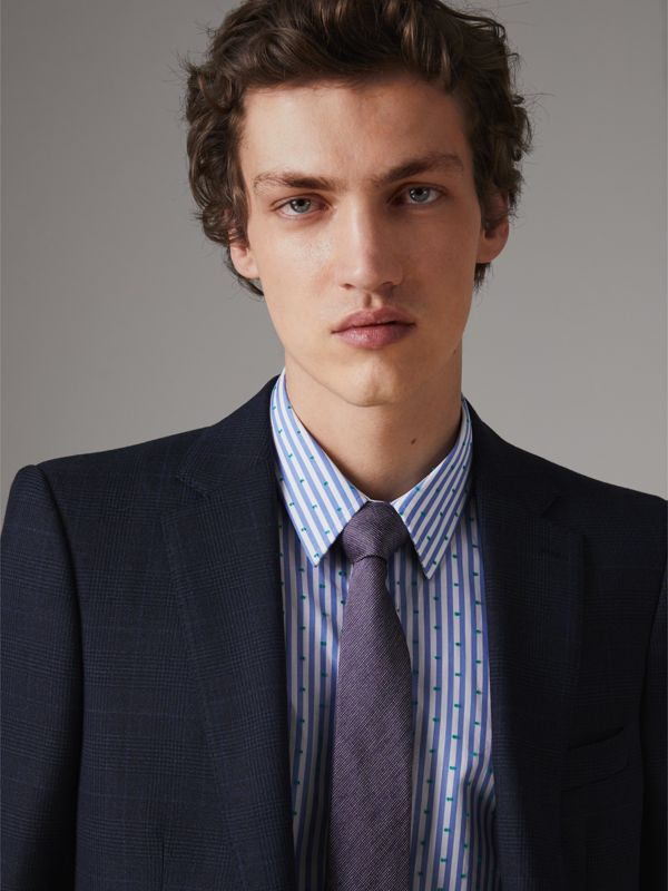 Modern Cut Silk Tie in Lilac - Men | Burberry Australia - cell image 2