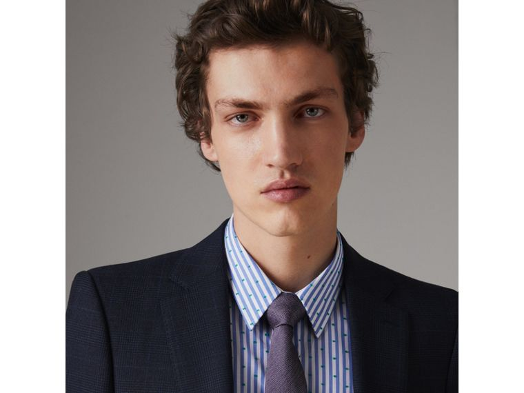 Modern Cut Silk Tie in Lilac - Men | Burberry United Kingdom - cell image 2