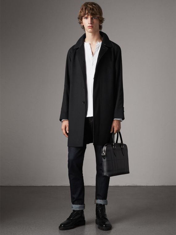 The Slim Barrow in London Check in Charcoal/black - Men | Burberry Australia - cell image 2