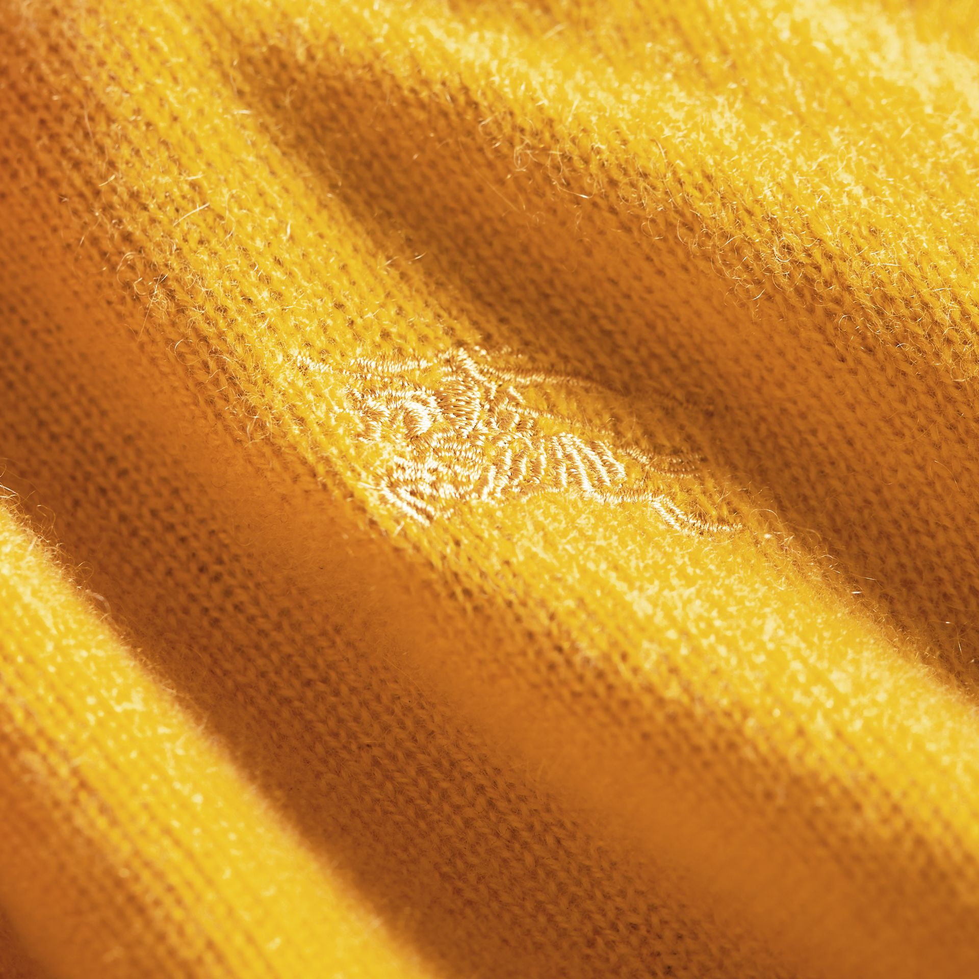Check Elbow Patch Cashmere Sweater in Amber Yellow - Boy | Burberry Hong Kong - gallery image 2