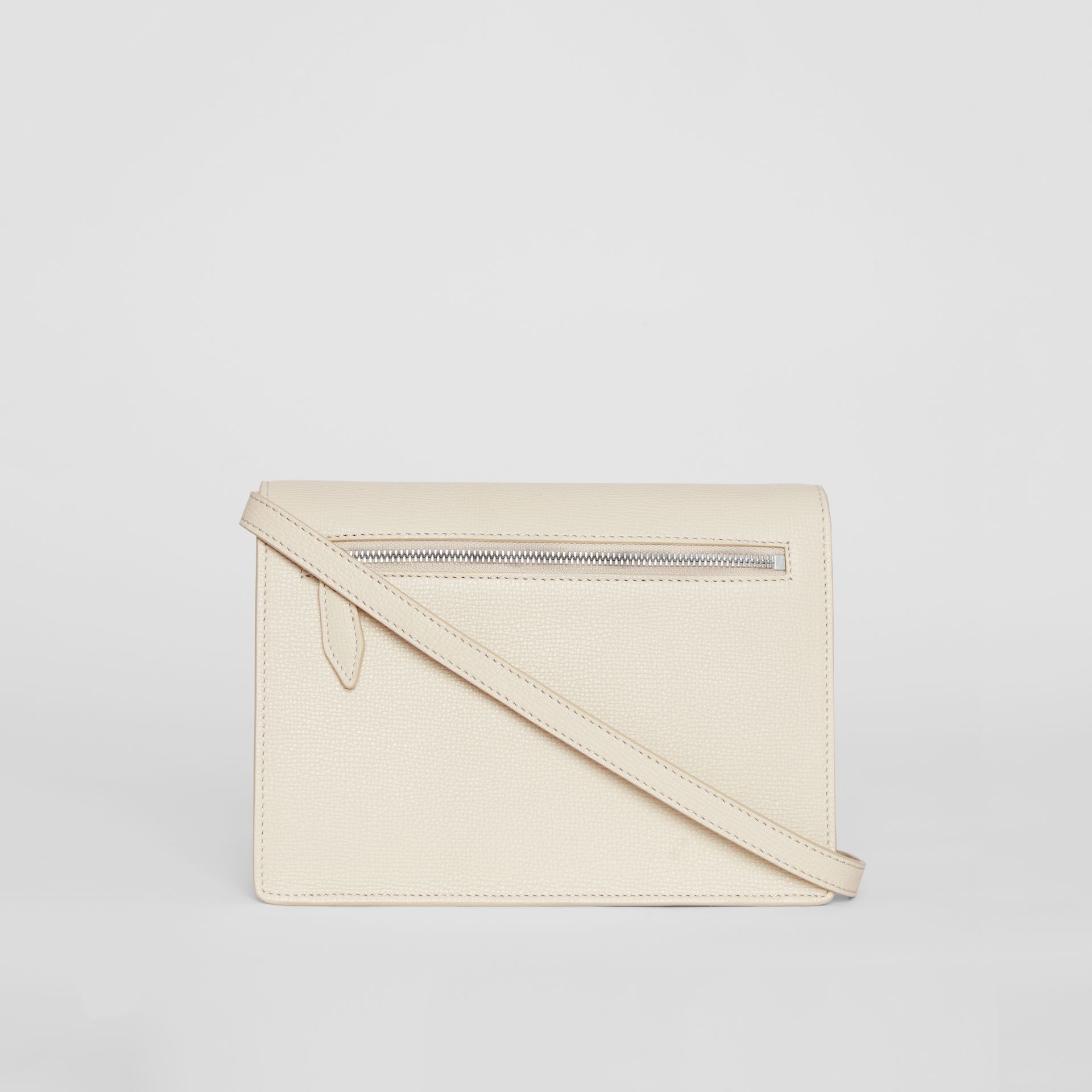 Small Vintage Check and Leather Crossbody Bag in Limestone - Women | Burberry - gallery image 7