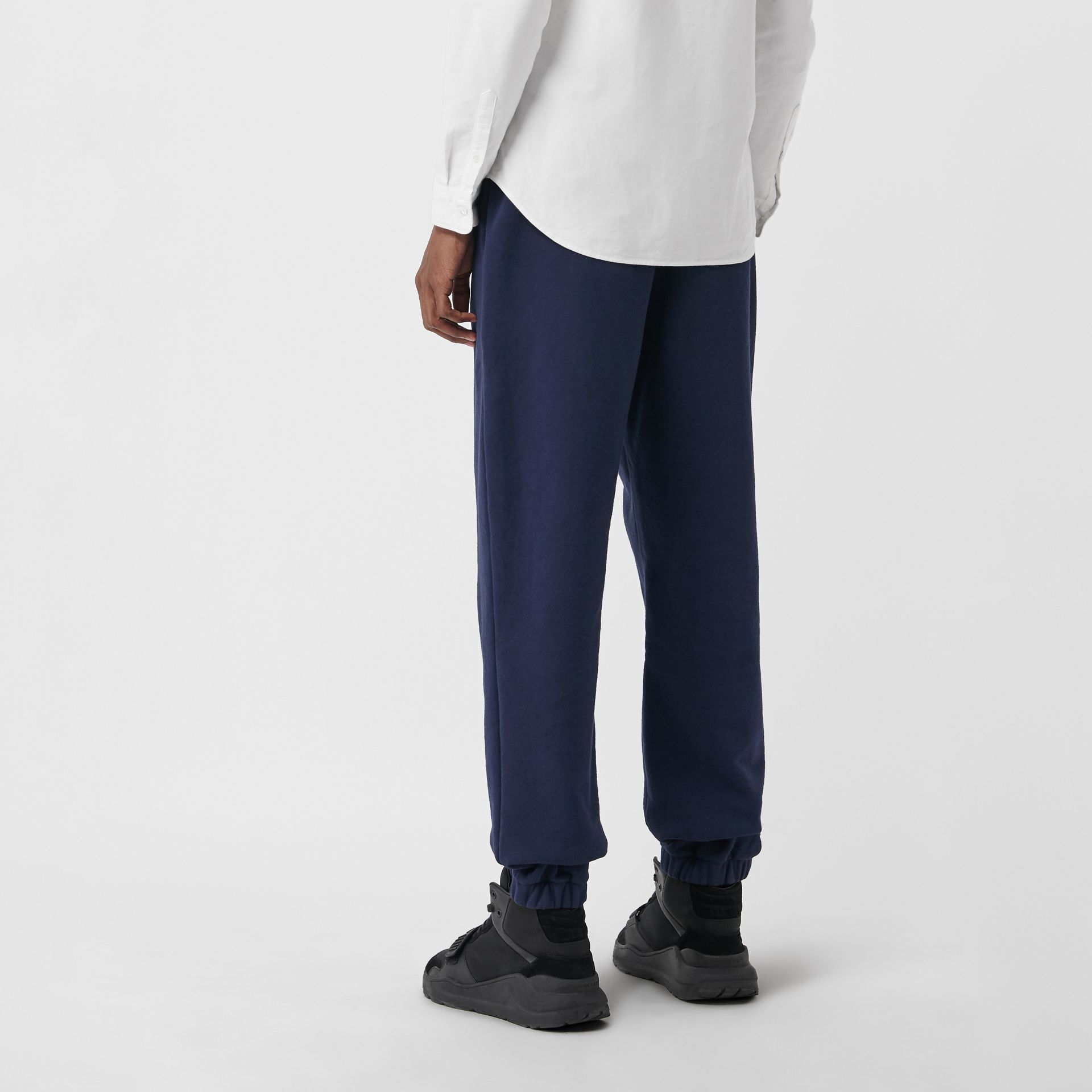 Embroidered Logo Jersey Track Pants in Navy - Men | Burberry Australia - gallery image 2