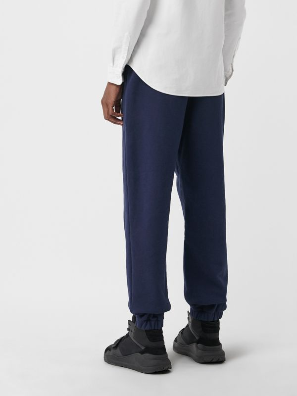 Embroidered Logo Jersey Track Pants in Navy - Men | Burberry - cell image 2
