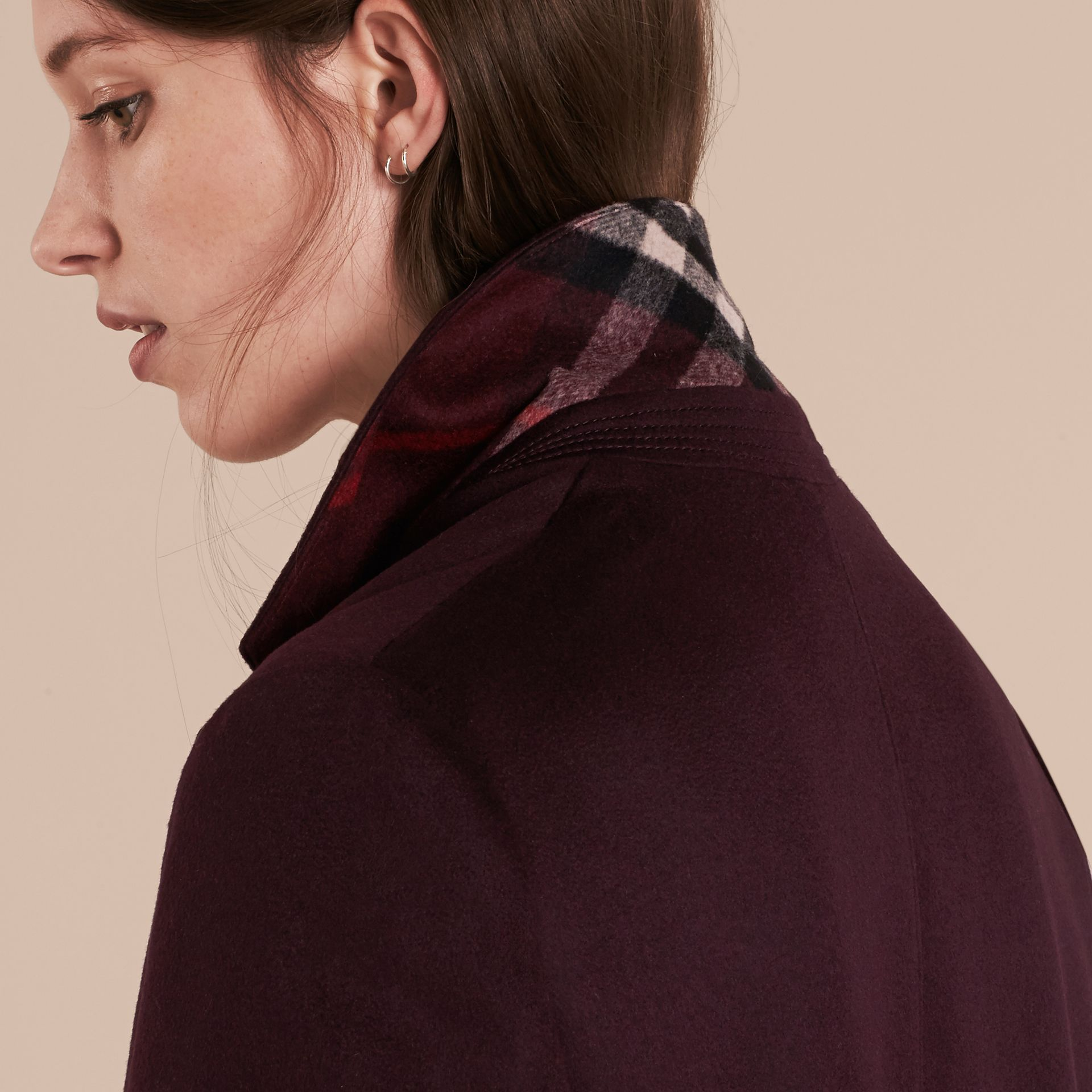 Dark elderberry Cashmere Tailored Coat Dark Elderberry - gallery image 8