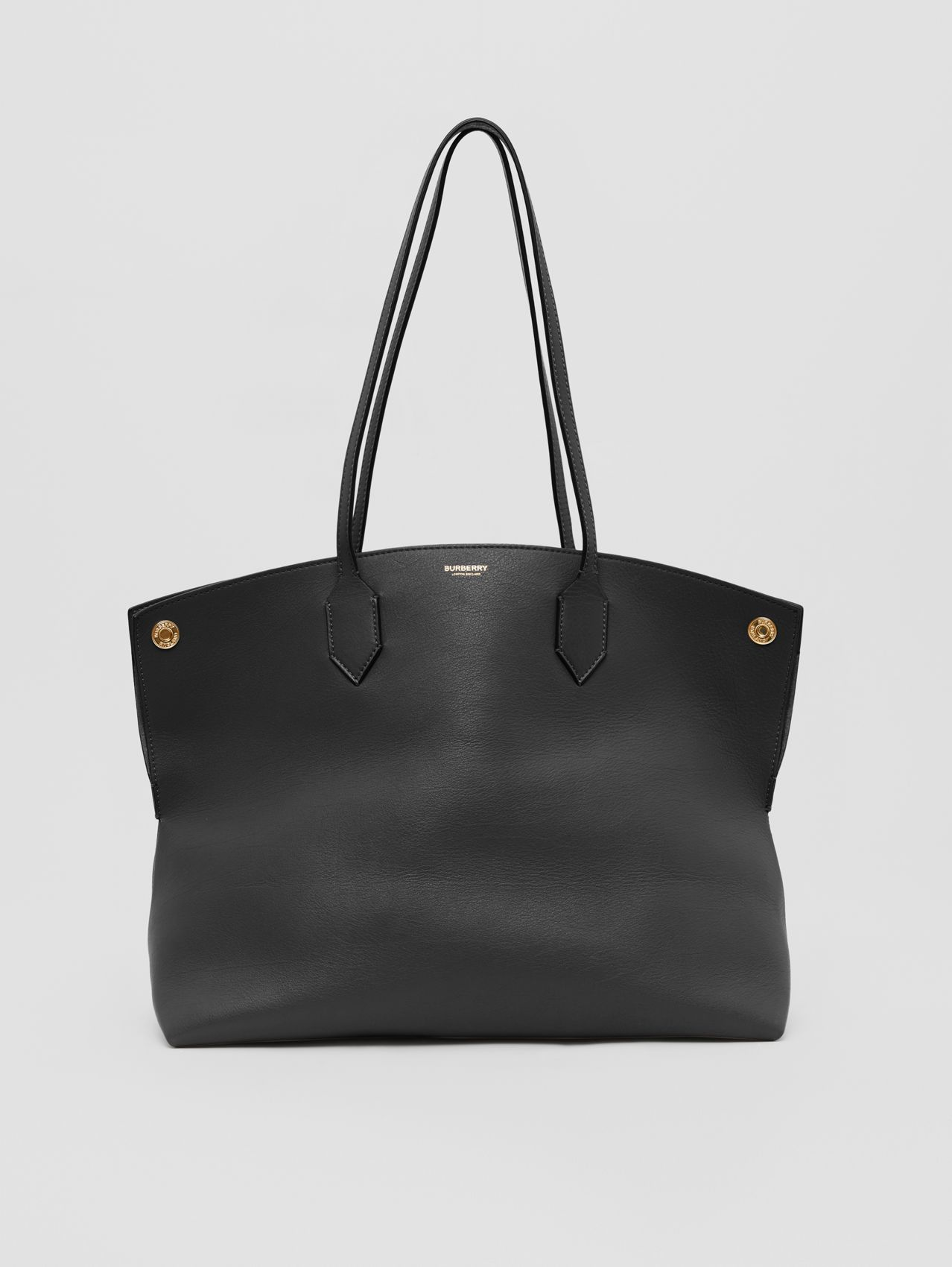 Medium Leather Society Tote in Black
