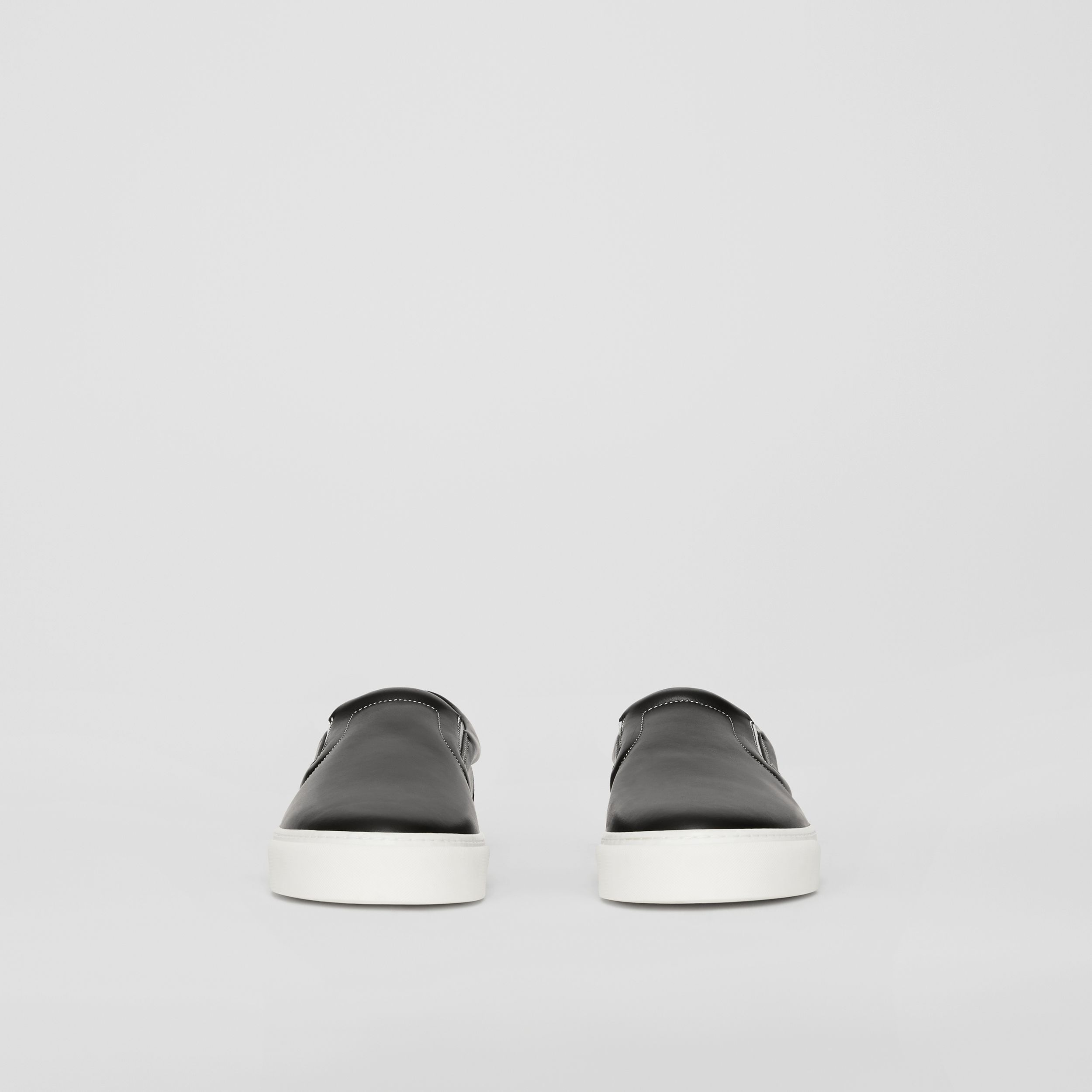 Bio-based Sole Leather Slip-on Sneakers in Black | Burberry - 4