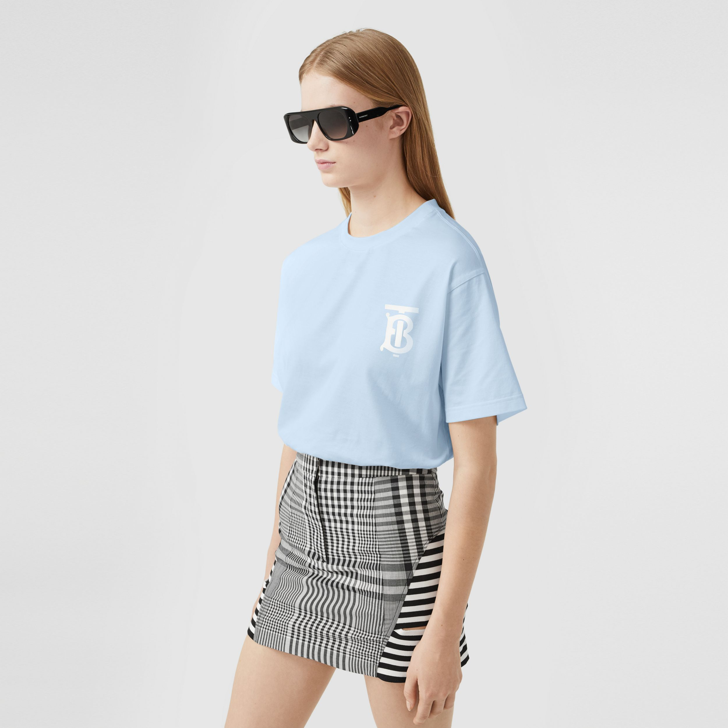 Monogram Motif Cotton Oversized T-shirt - Women | Burberry - 1
