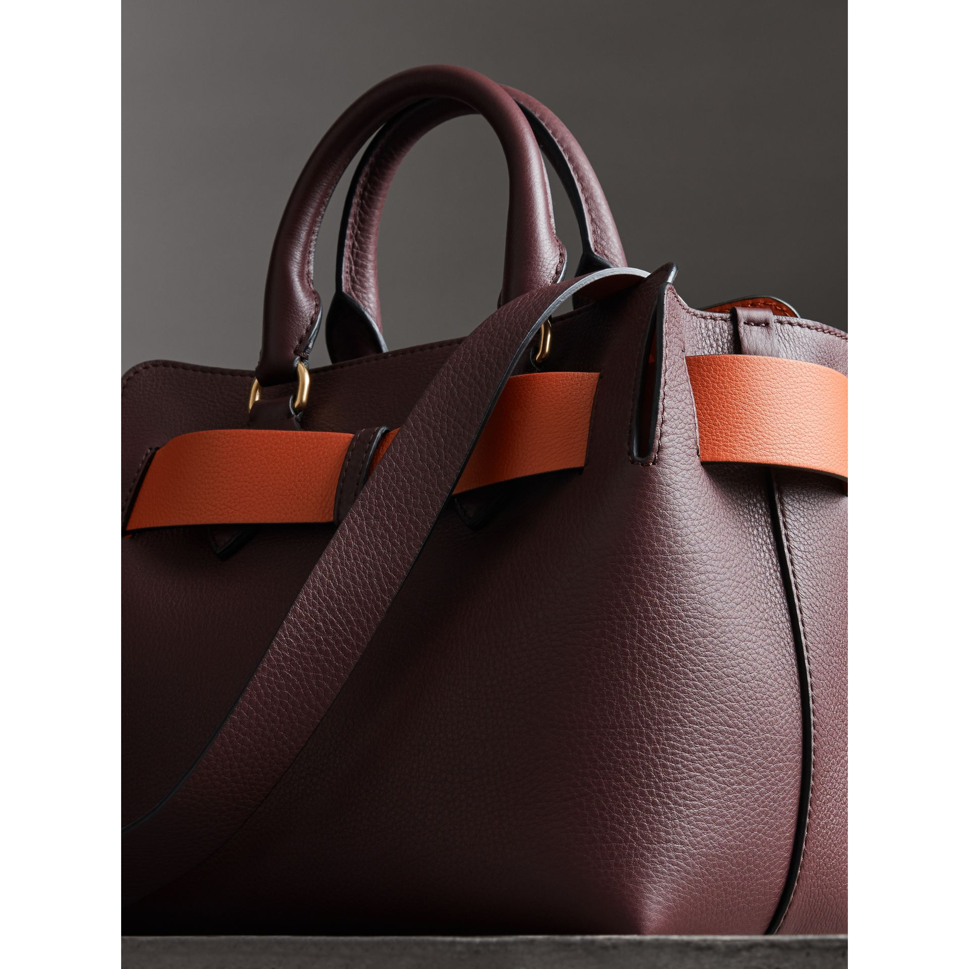 The Small Leather Belt Bag in Deep Claret - Women | Burberry United Kingdom - gallery image 2