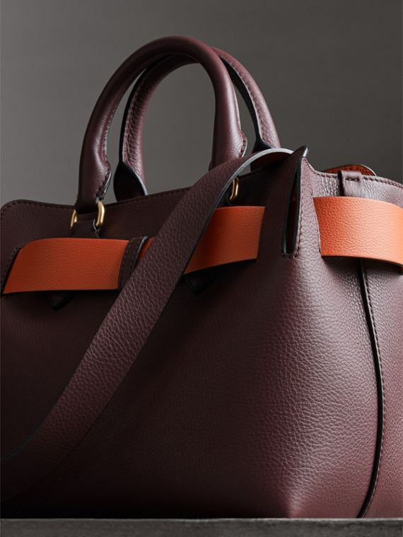 The Small Leather Belt Bag in Deep Claret - Women | Burberry Singapore - cell image 2